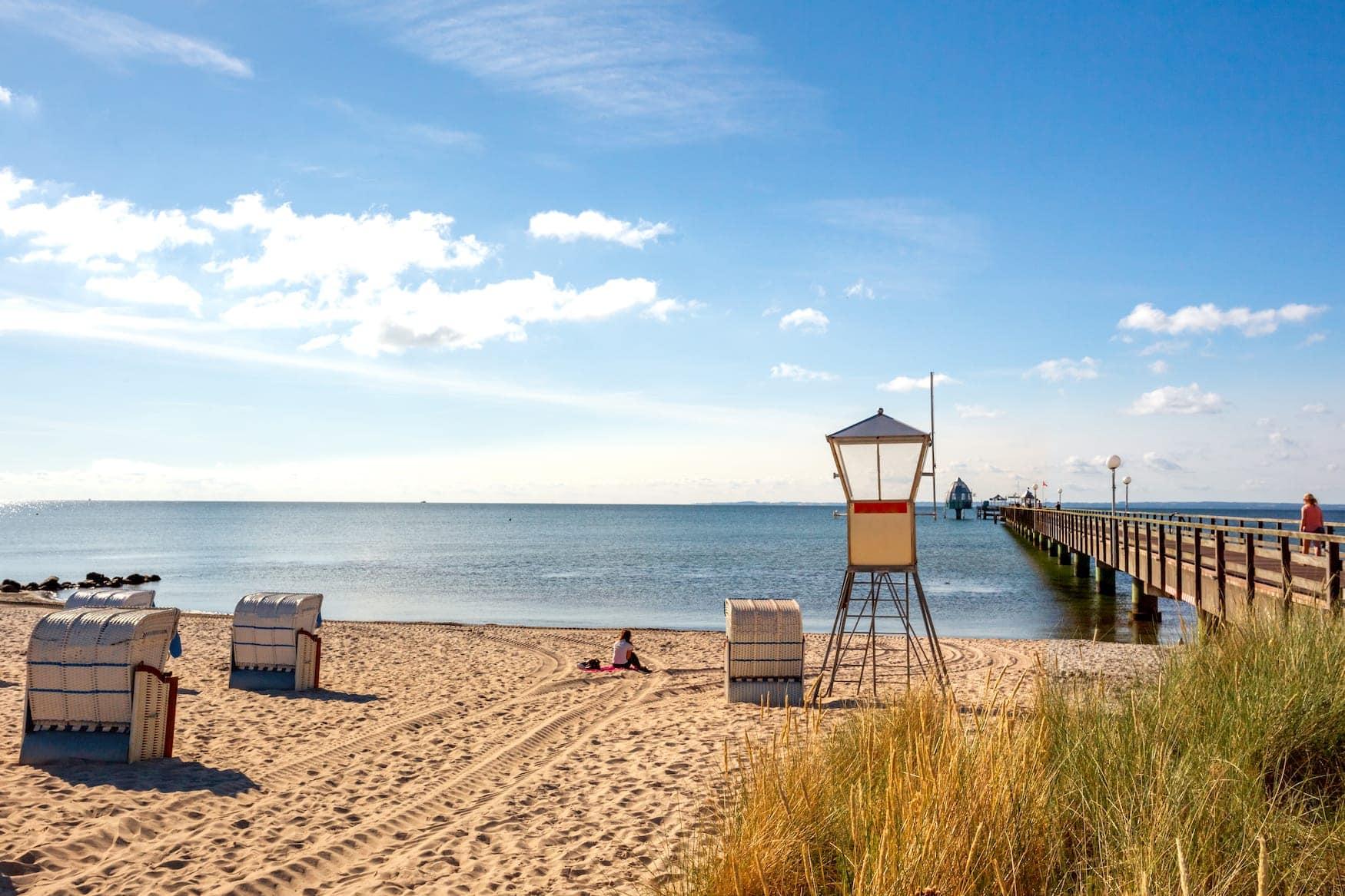 Strand in Grömnitz, Schleswig-Holstein