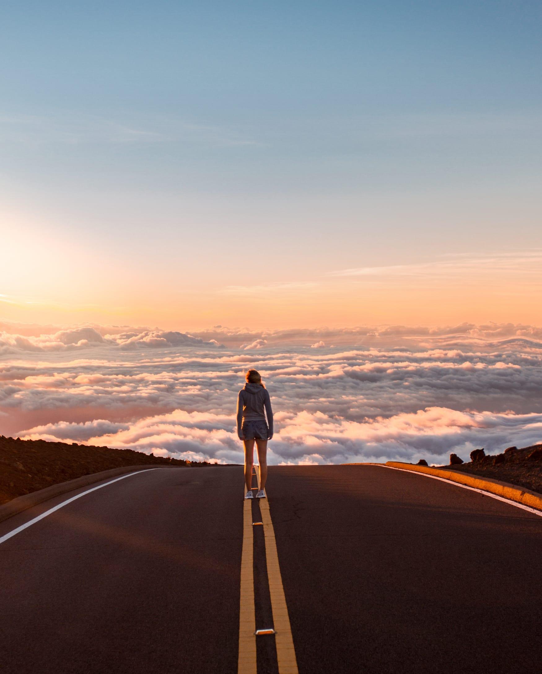 Über den Wolken der Maui Insel auf Hawaii
