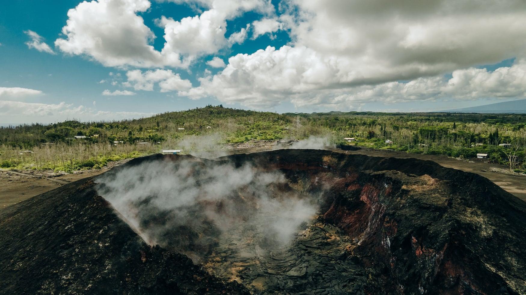 Gefrorene Lava vom Kilauea-Vulkan auf Big Island, Hawaii