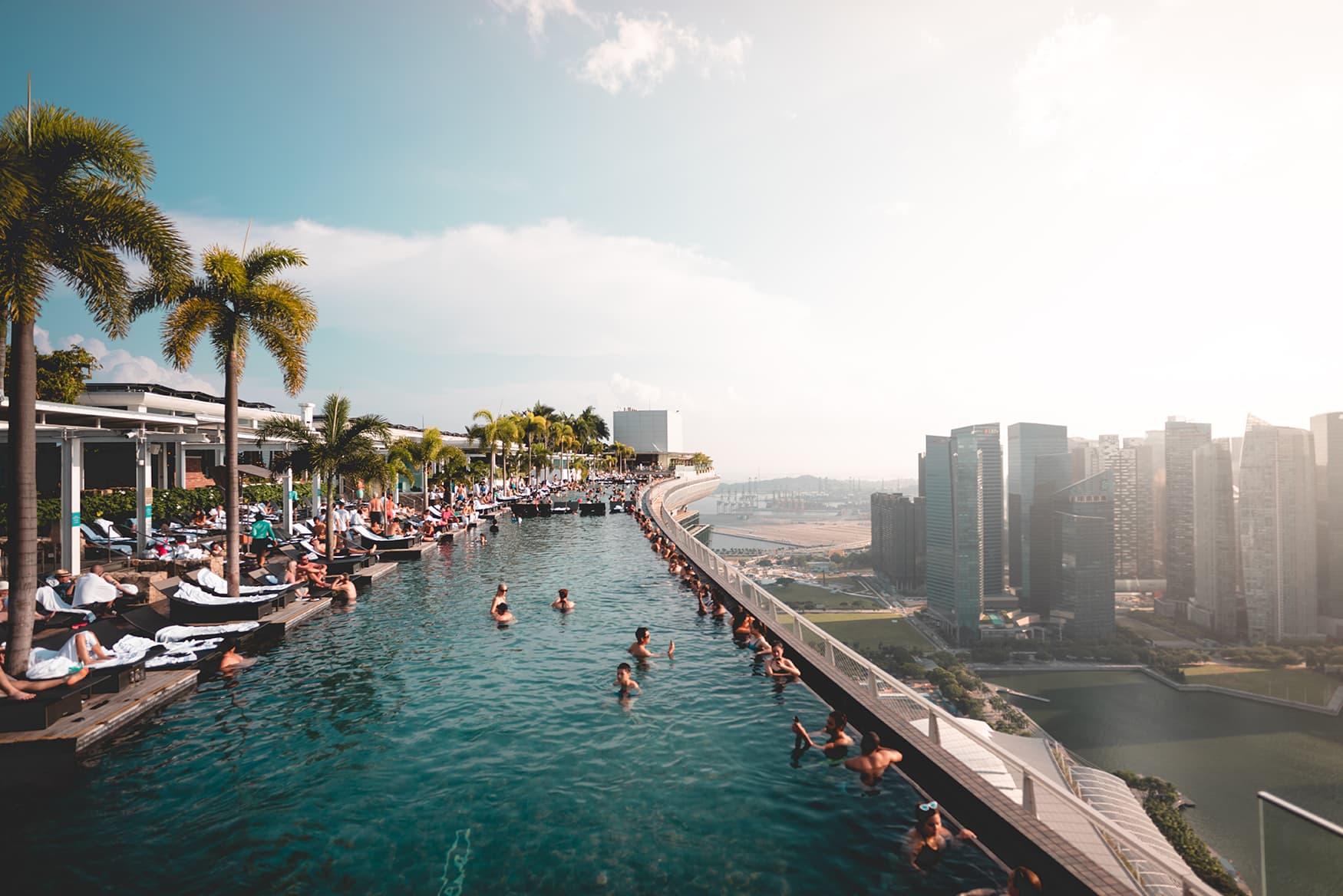 Infinitypool im Marina Bay Sands in Singapur