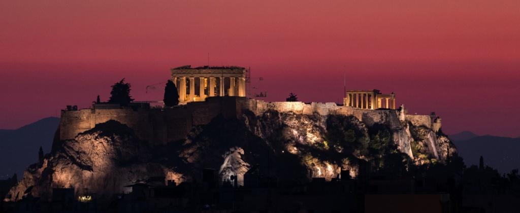 Akropolis Athen Abend