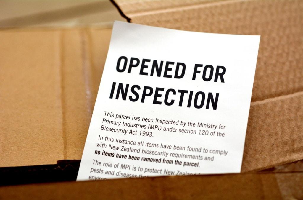 Inspektionskarte Neuseeland