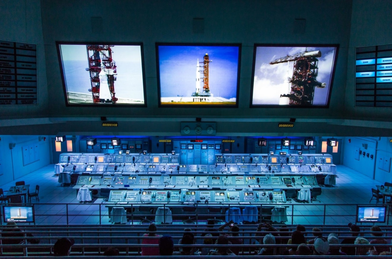 NASA Kennedy Space Center Museum, real Apollo mission launch control center