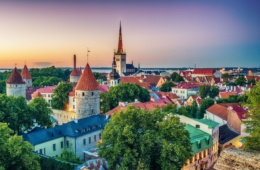 Silhouette von Tallinn