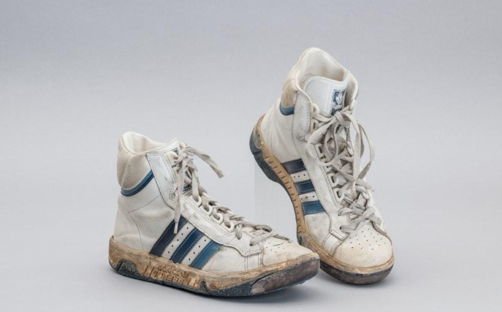 Adidas-Turnschuhe aus den 80er-Jahren