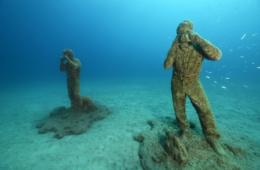 Skulpturen im Unterwassermuseum auf Lanzarote