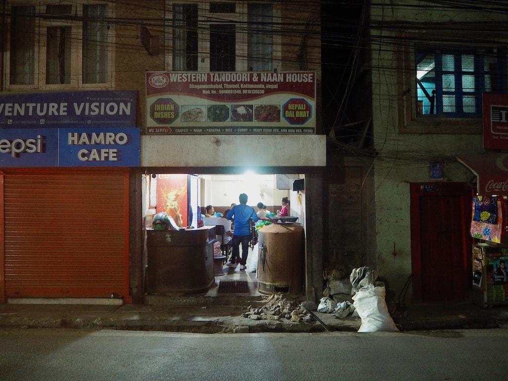 Kleines Lokal in Kathmandu, Nepal