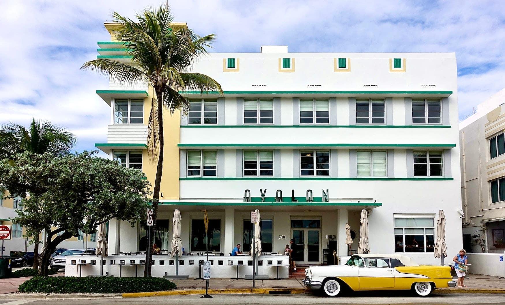 Hoteleingang in Miami, Florida