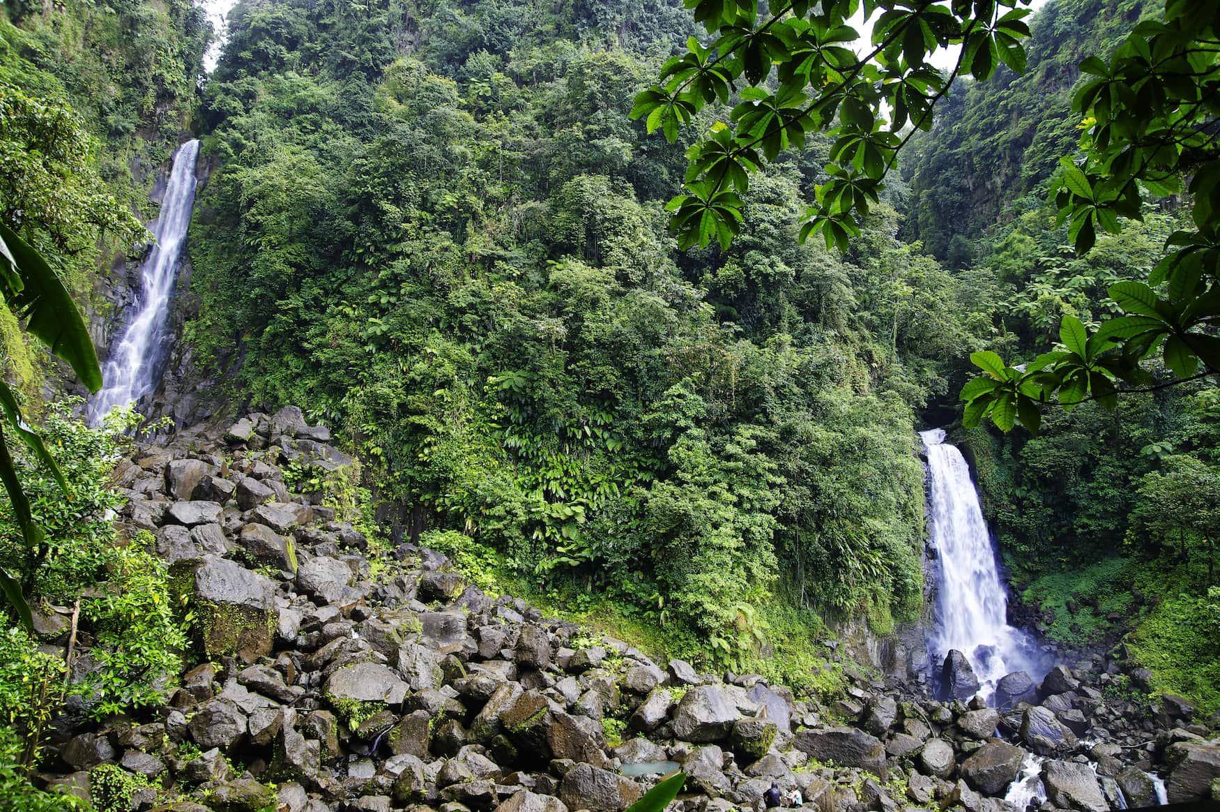 Trafalgar Falls, Morne Trois Pitons Nationalpark (UNESCO Weltkulturerbe), Dominica.