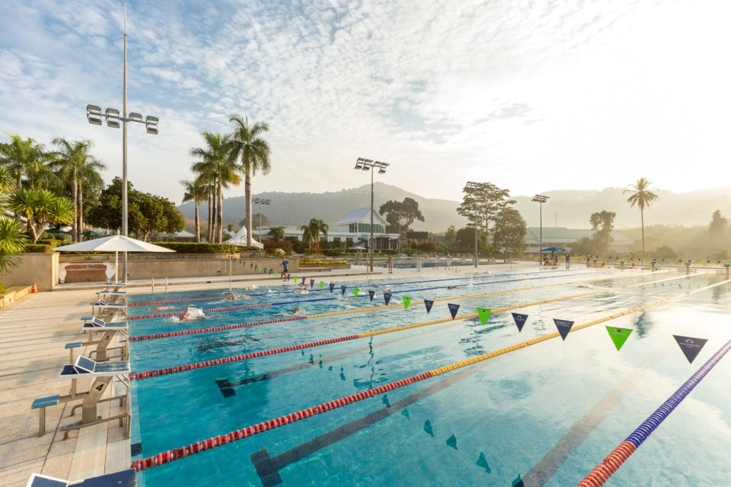 50 Meter Olympic Pool im Thanyapura Health & Sports Resort