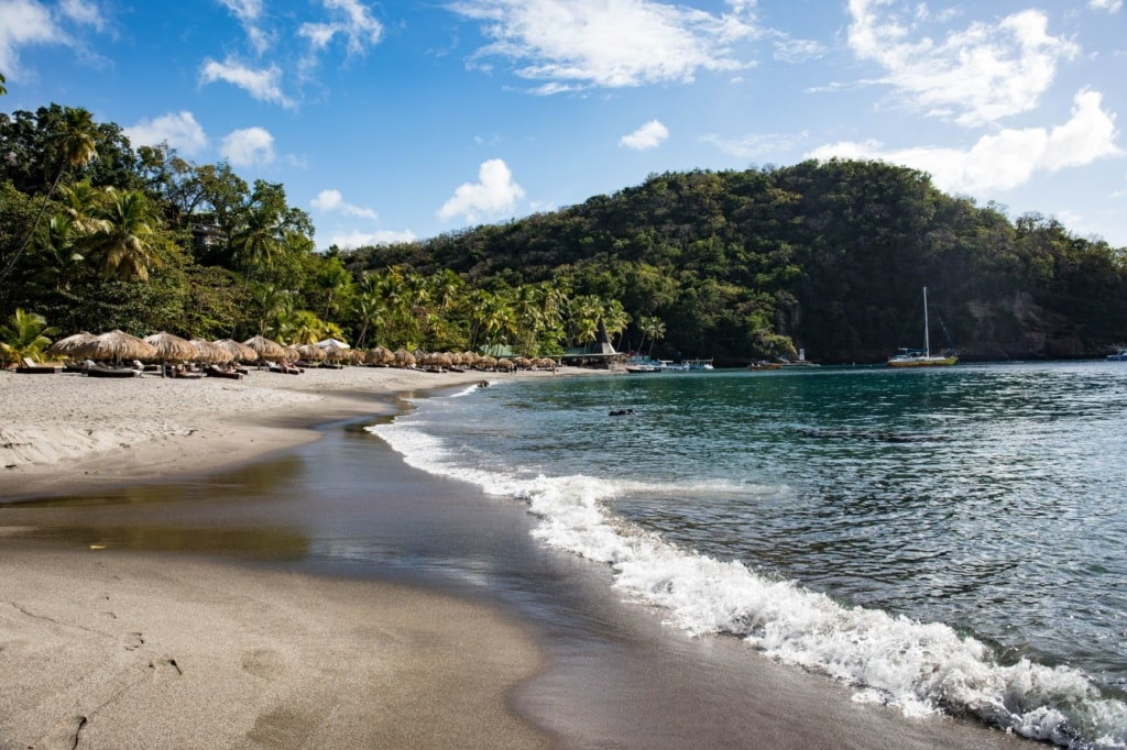 Anse Chastanet beach on Saint Lucia