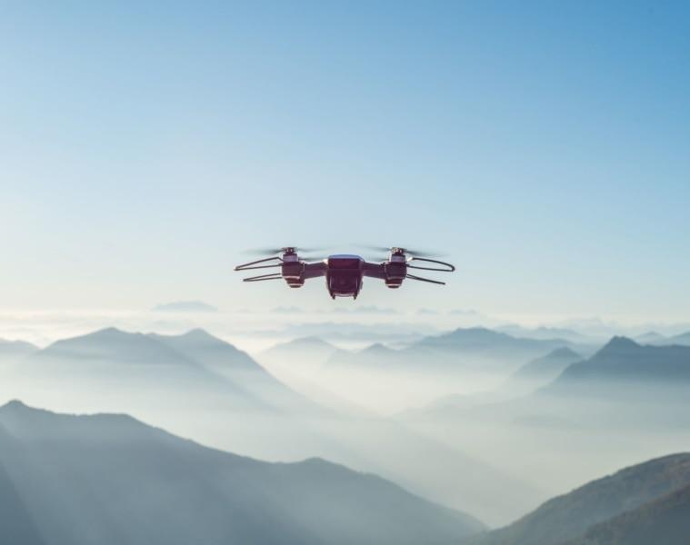 Drohne in Bergen