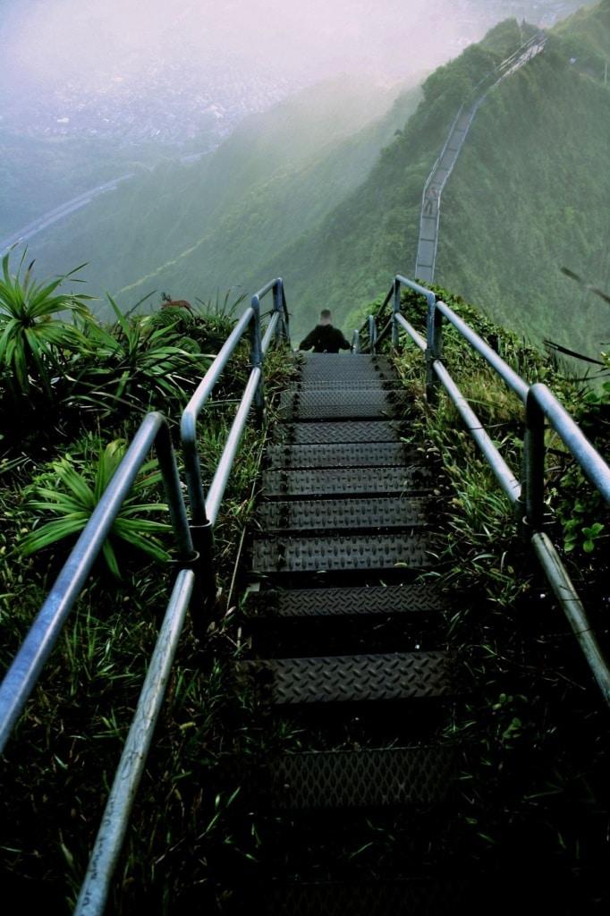 Haiku Stairs auf Hawaii