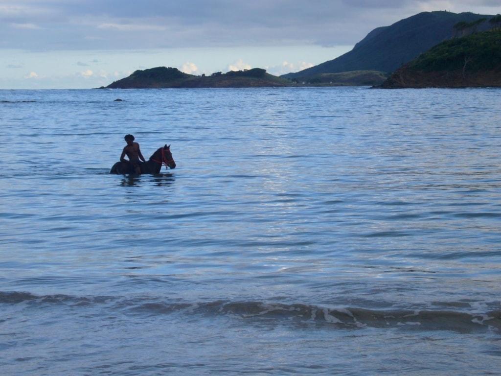 Reiten am Cas en Bas Beach auf Saint Lucia