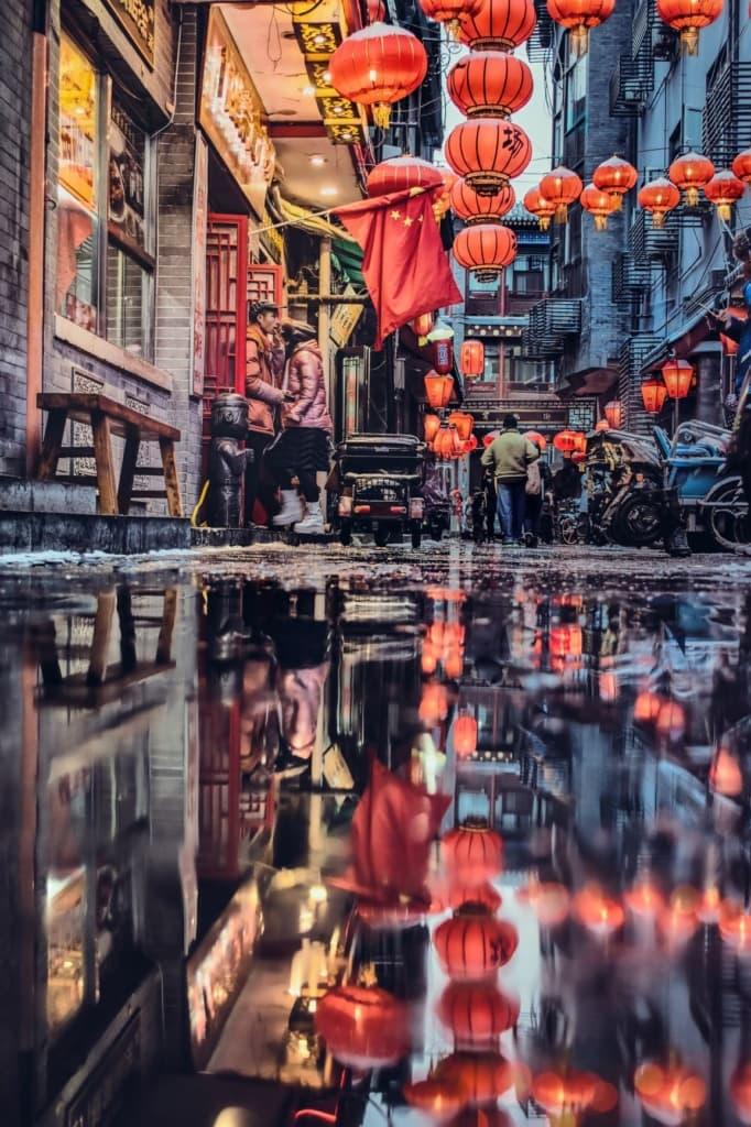 Straßenszene Peking