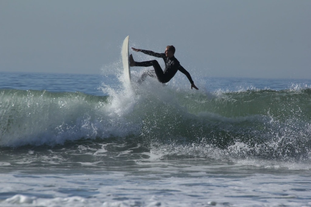 Surfer in Santa Monica