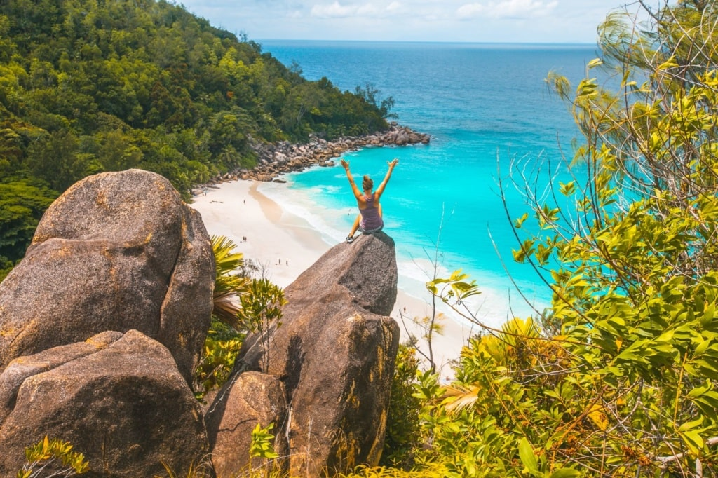 Anse Georgette,Strand
