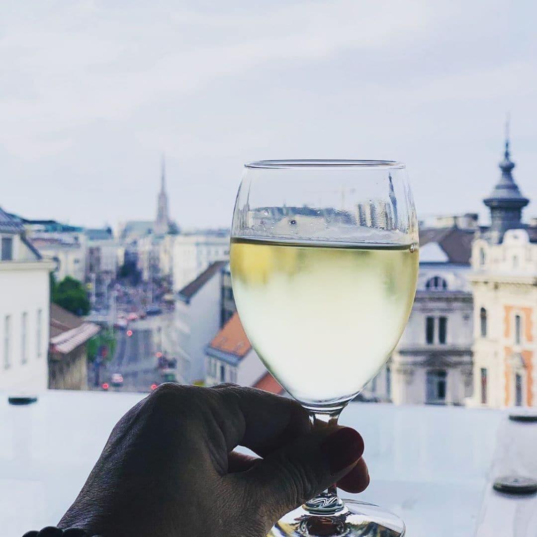 Hier fehlt nur ein Stück Sacher-Torte! Ein Glas Wein mit Stephansdom-Sicht im @dastriest #hotel in #Wien. @aspirinia hat es für uns getestet! Mehr dazu in unserer Story. #hotel #review #reportervorort #mytinyatlas #welivetoexplore #passionpassport #travelgram