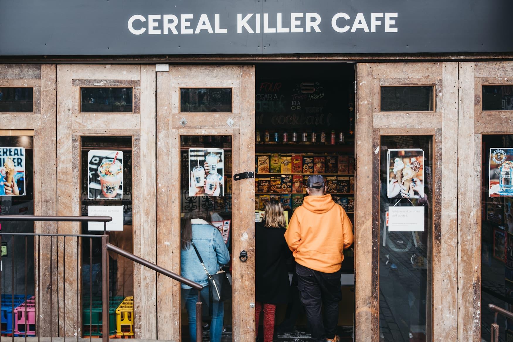 Eingang des Cereal Killer Cafes in London
