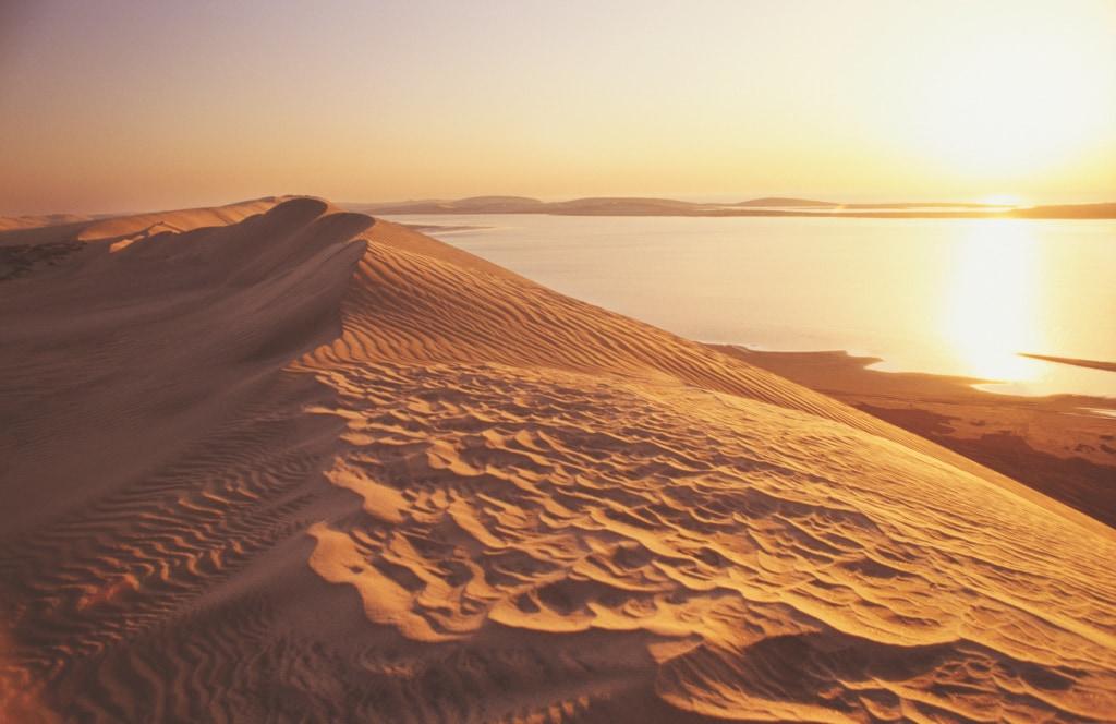 Die Sonnenuntergänge in Qatar sind zum Schwärmen.