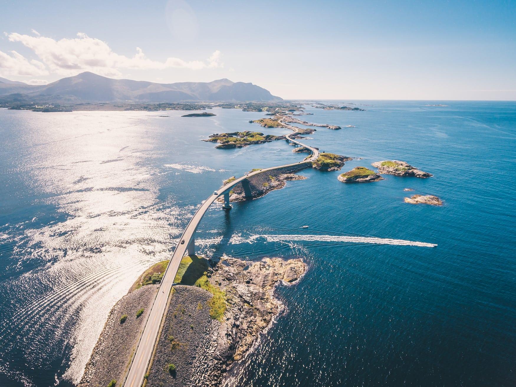 Atlantik Road in Norwegen
