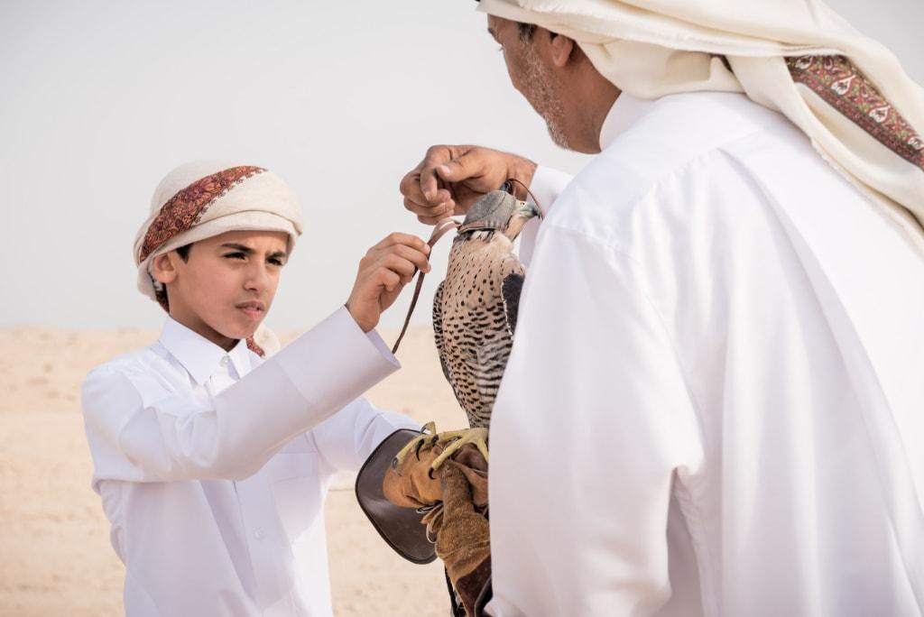 Die Falken von Qatar sind legendär.