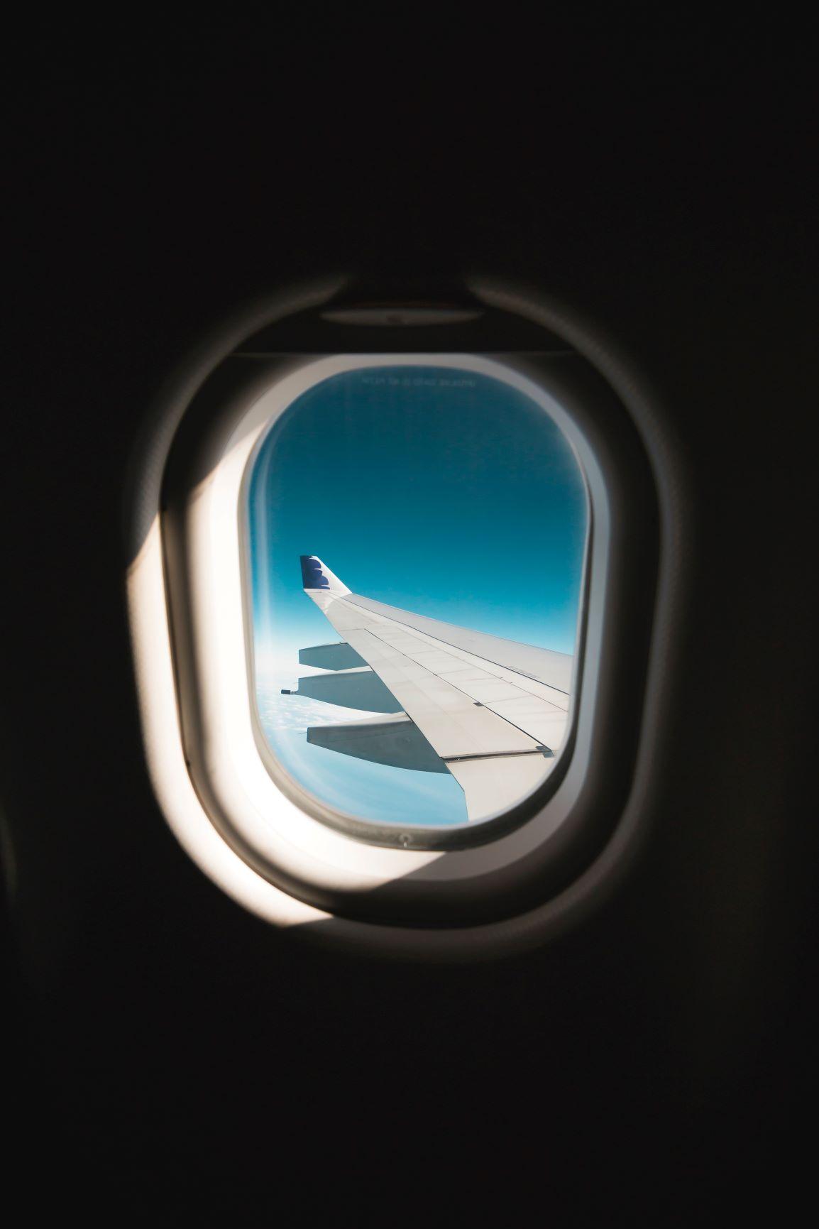 Fenster im Flugzeug