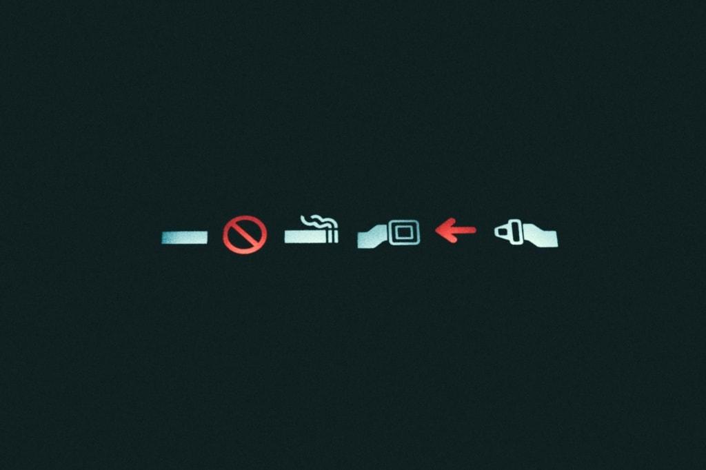 Symbole im Flugzeug