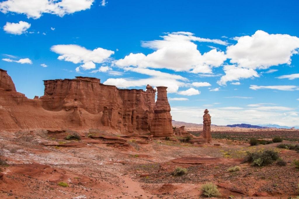 Gesteinsformation Landschaft Talampaya Argentinien