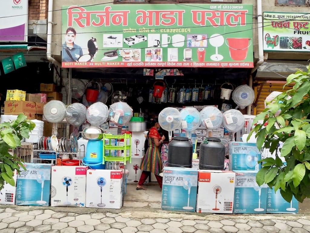 Shop für Haushaltsgeräte in Kathmandu