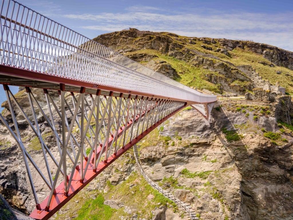 Neue Brücke am Tintagel Castle