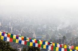 Verschmutzte Luft in Kathmandu, Nepal
