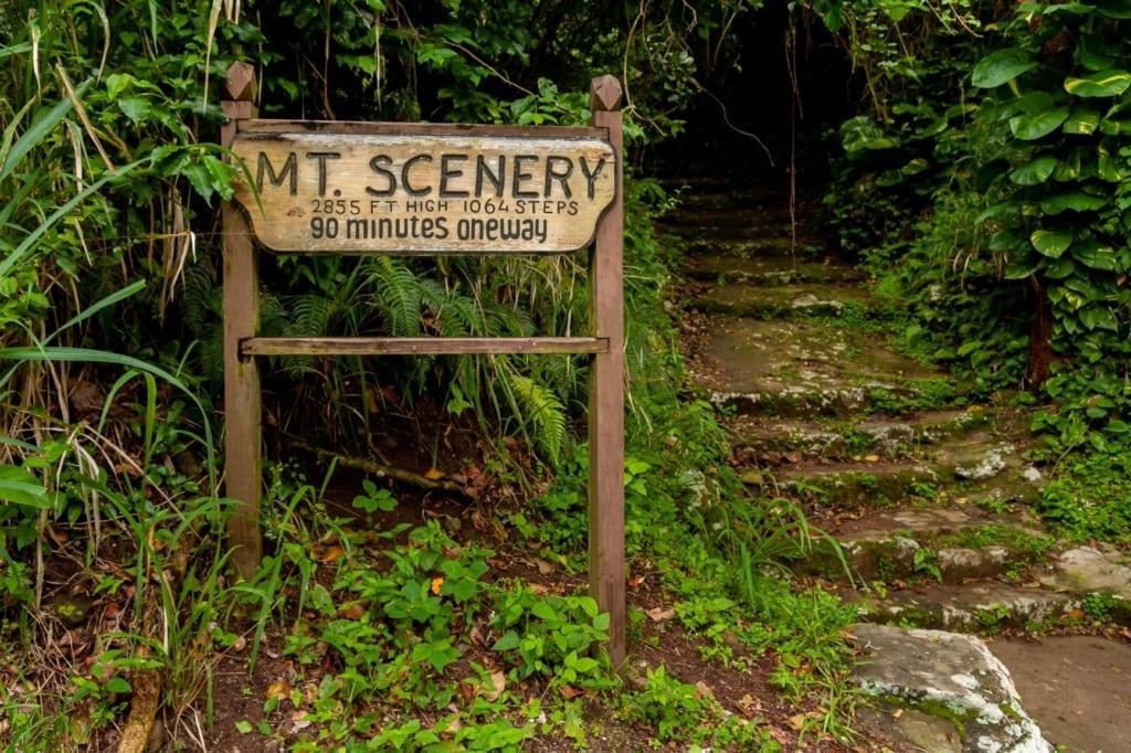 Wegbeschreibung Mount Scenery auf Insel Saba