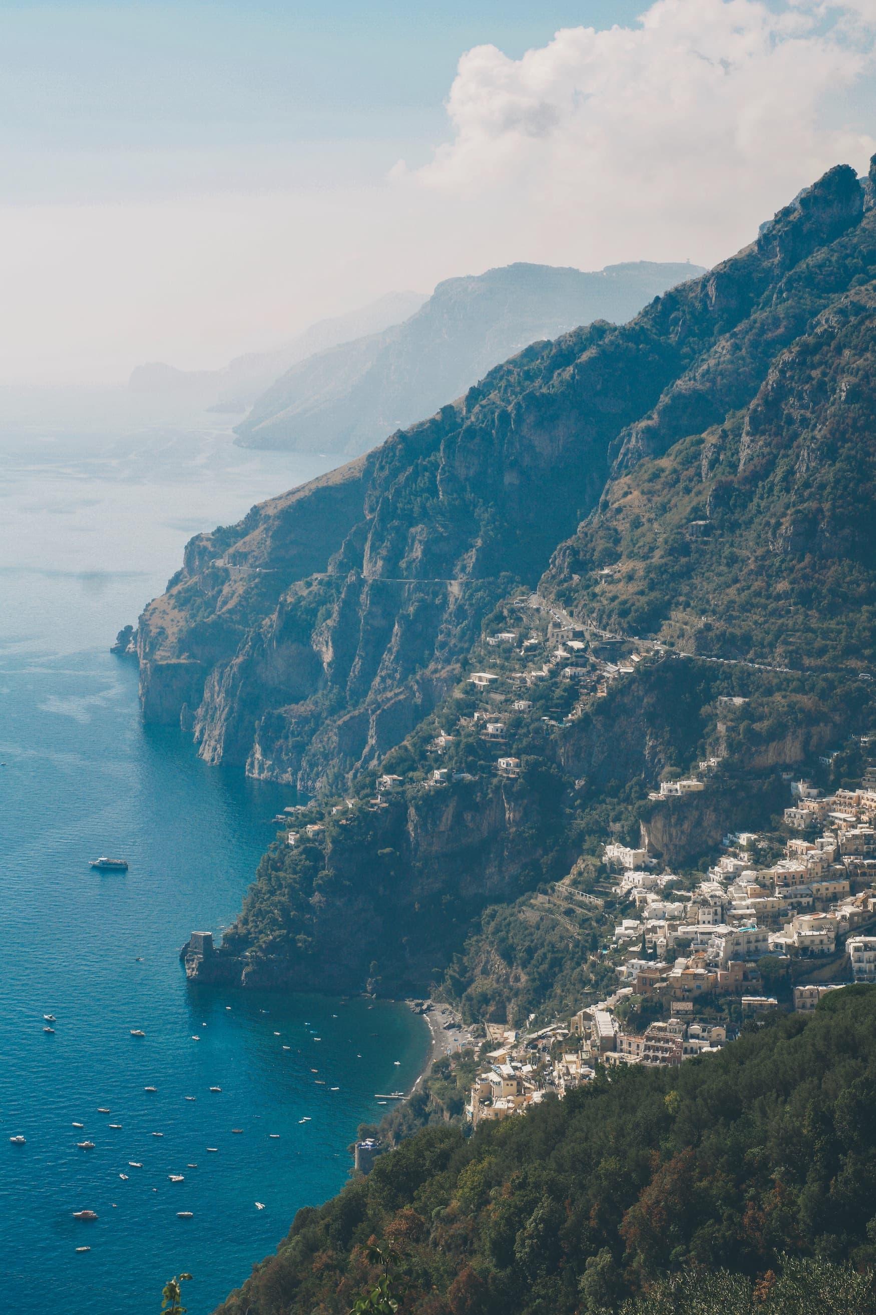 Küstenstraße an der Amalfiküste