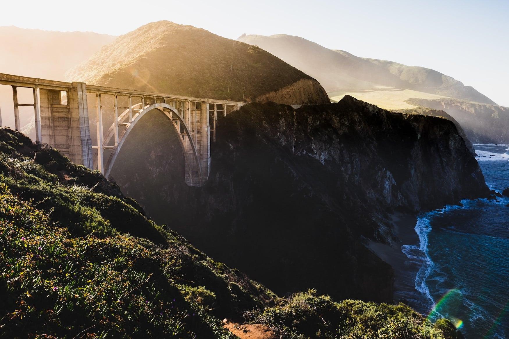 Bixby Brücke in Kalifornien