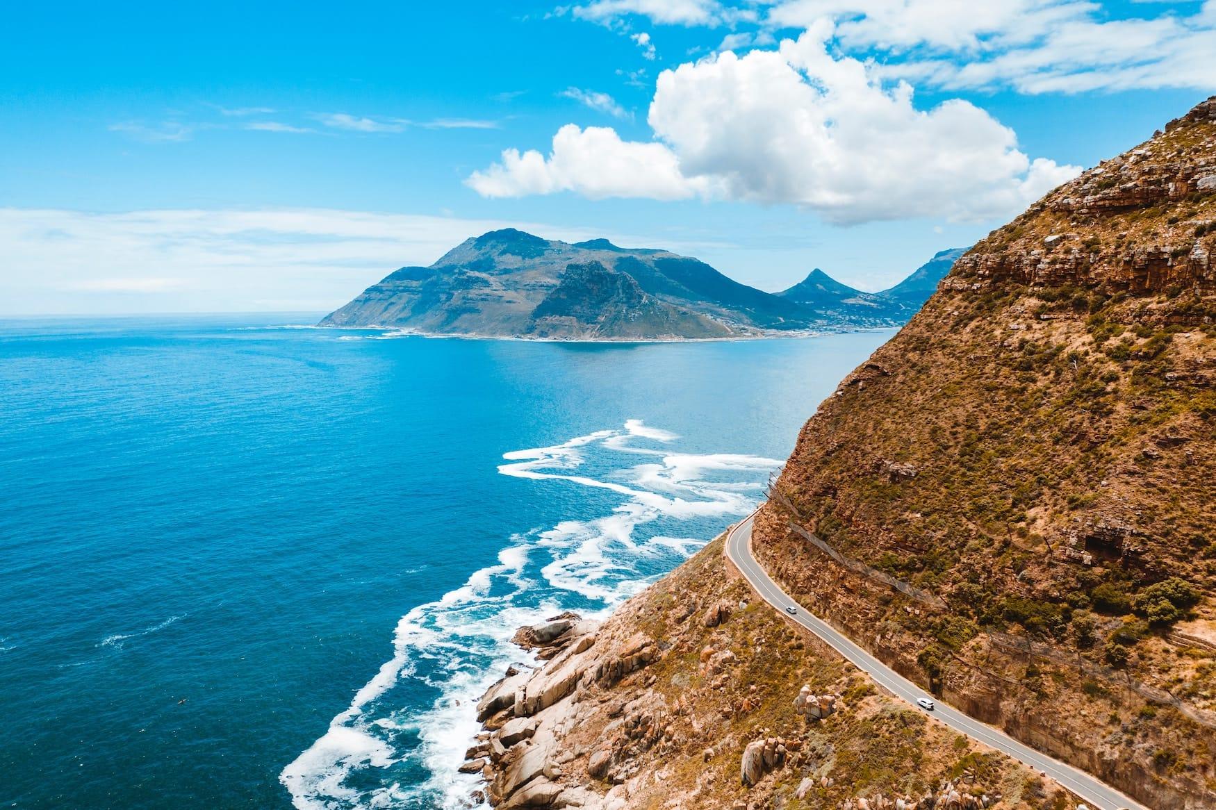 Küstenstraße in Kapstadt, Südafrika