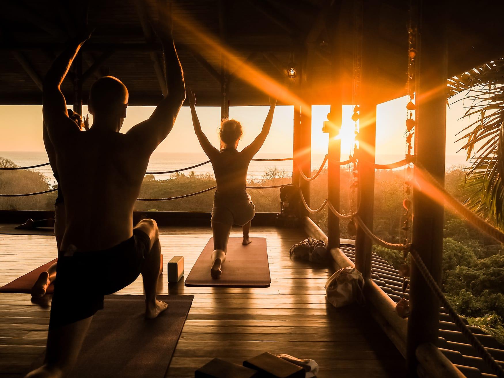 Yoga-Stunde in Costa Rica