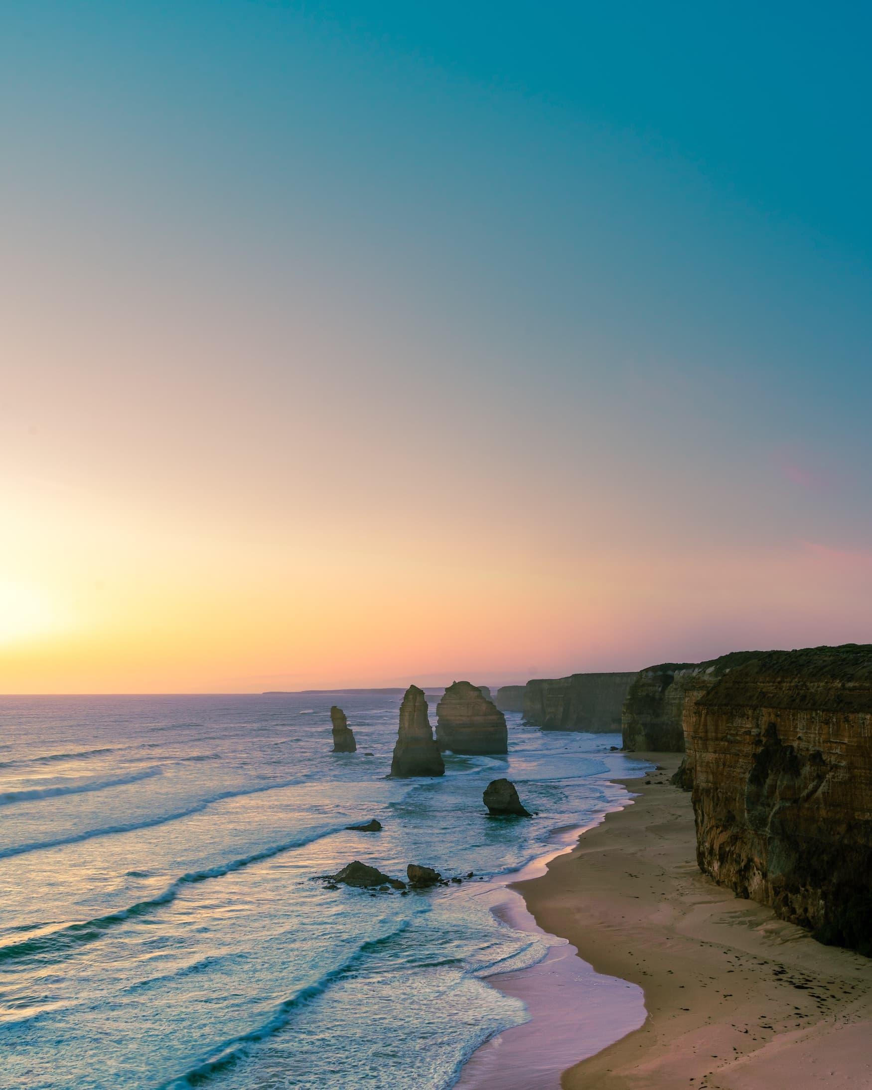 12 Aposteln bei Sonnenuntergang
