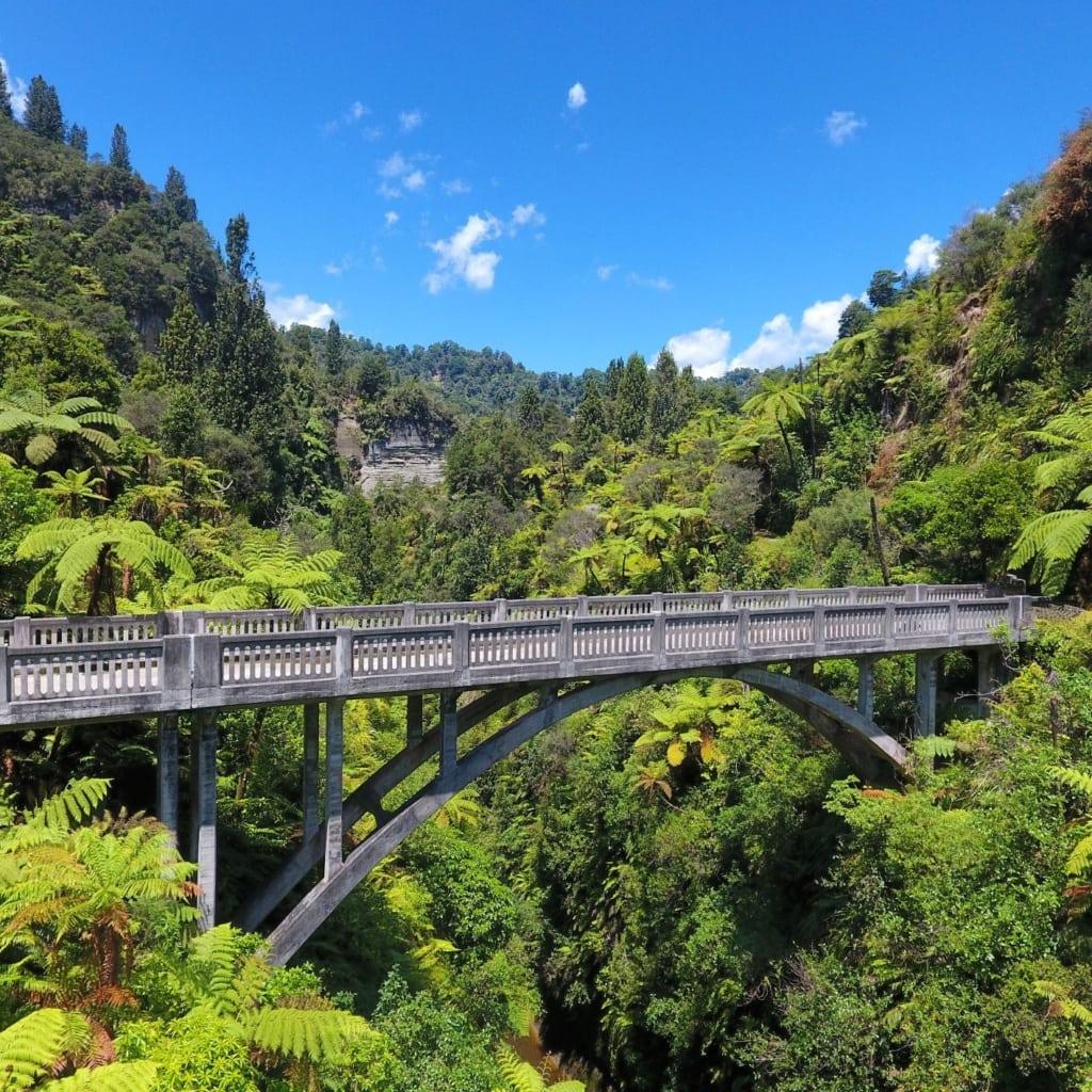 Bridge to Nowhere ist eine Betonbrücke, die den Mangapurua Stream überspannt