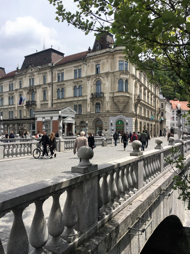 Brücke Llubjana Zentrum