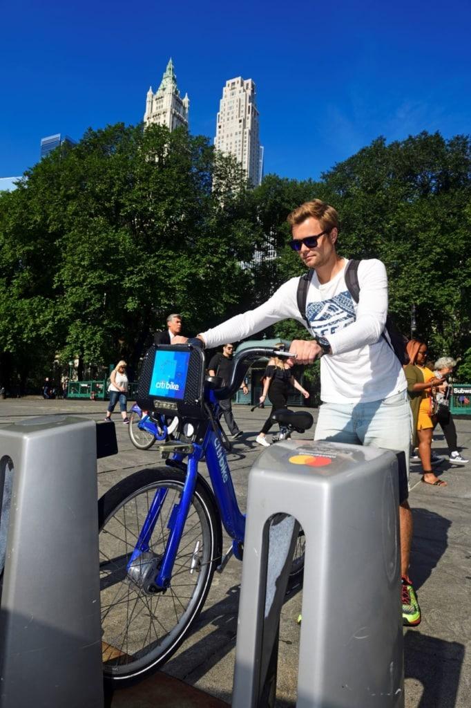 Fahrradverleih in New York