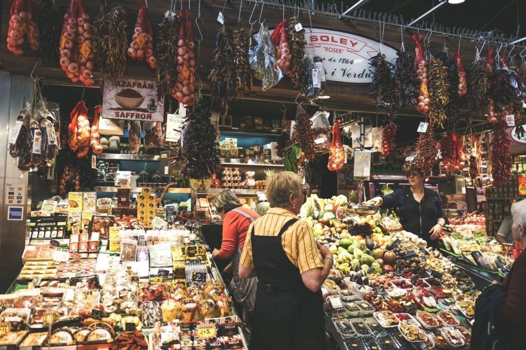 Gemüsemarkt in Barcelona