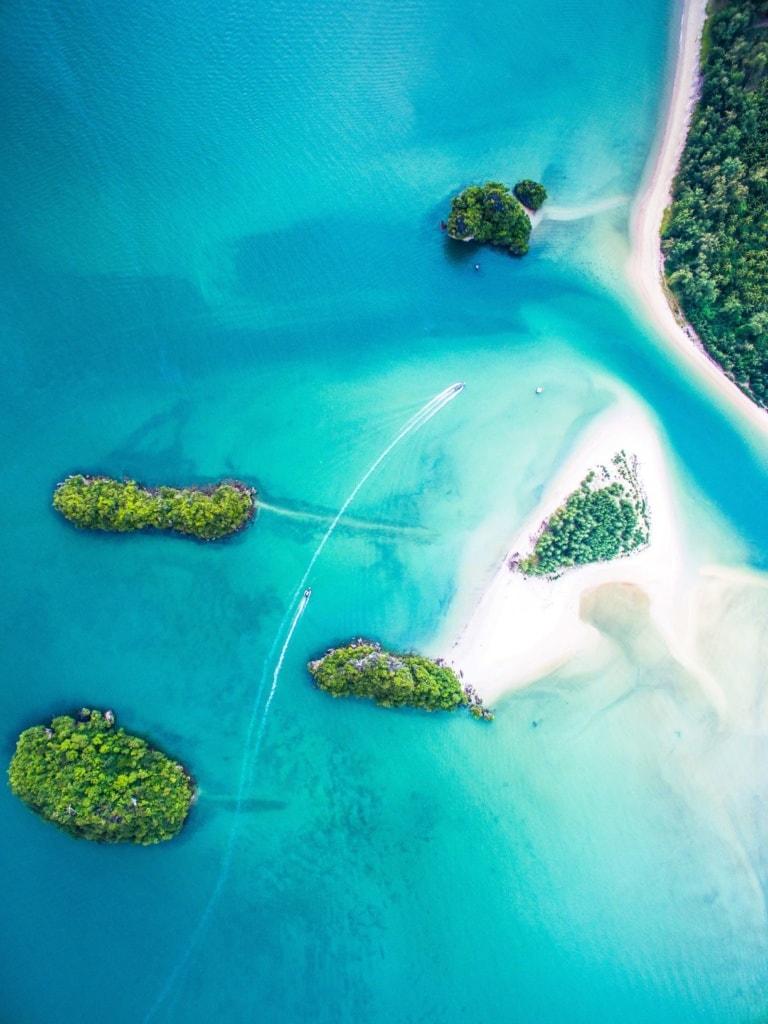 Inseln der Andamanensee aus der Vogelperspektive