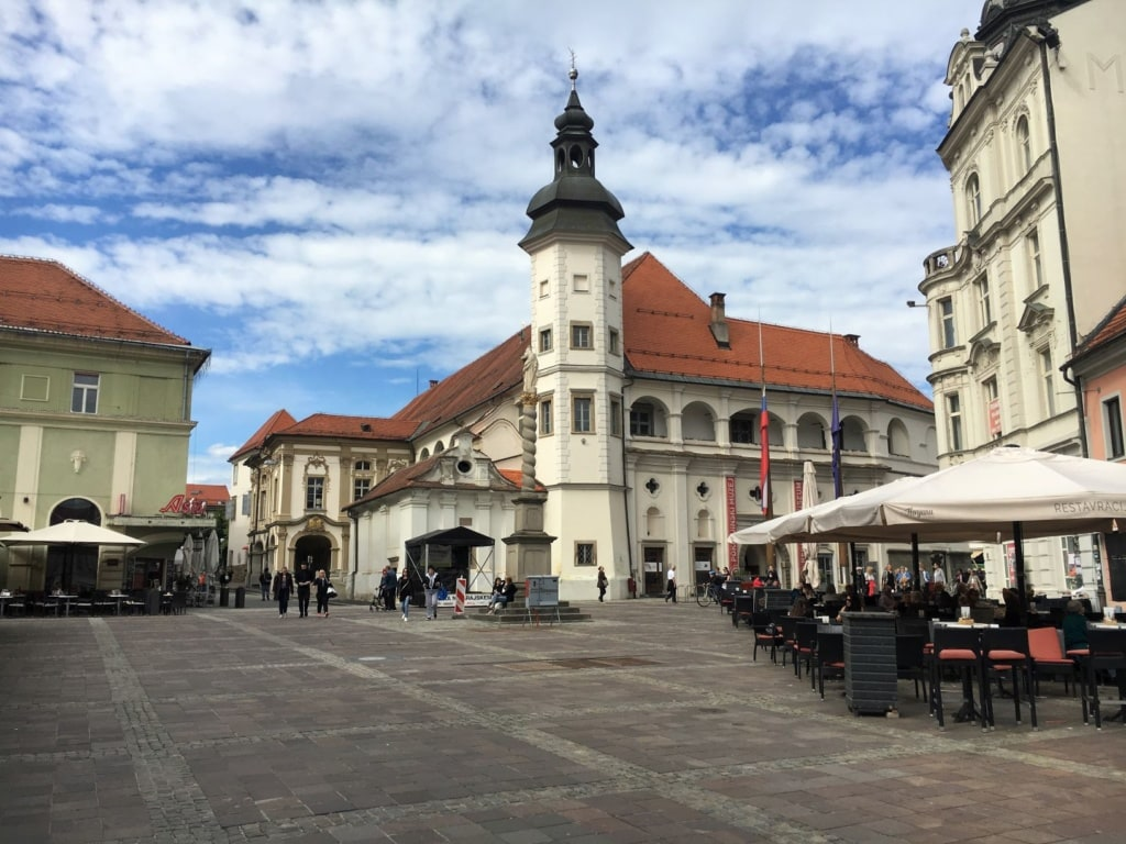 Maribor Zentrum Platz Kirche