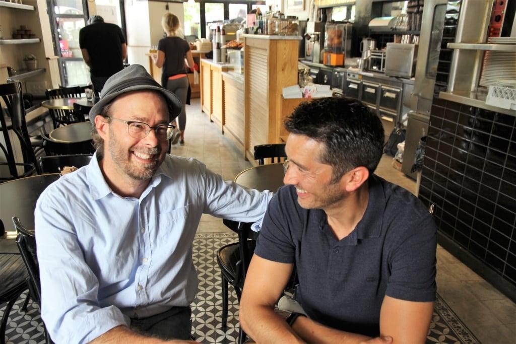 Stefan Gödde mit Josh in Jerusalem