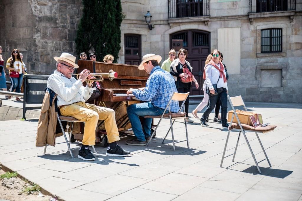 Straßenmusiker in Barcelona