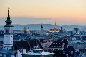 Silhouette von Wien