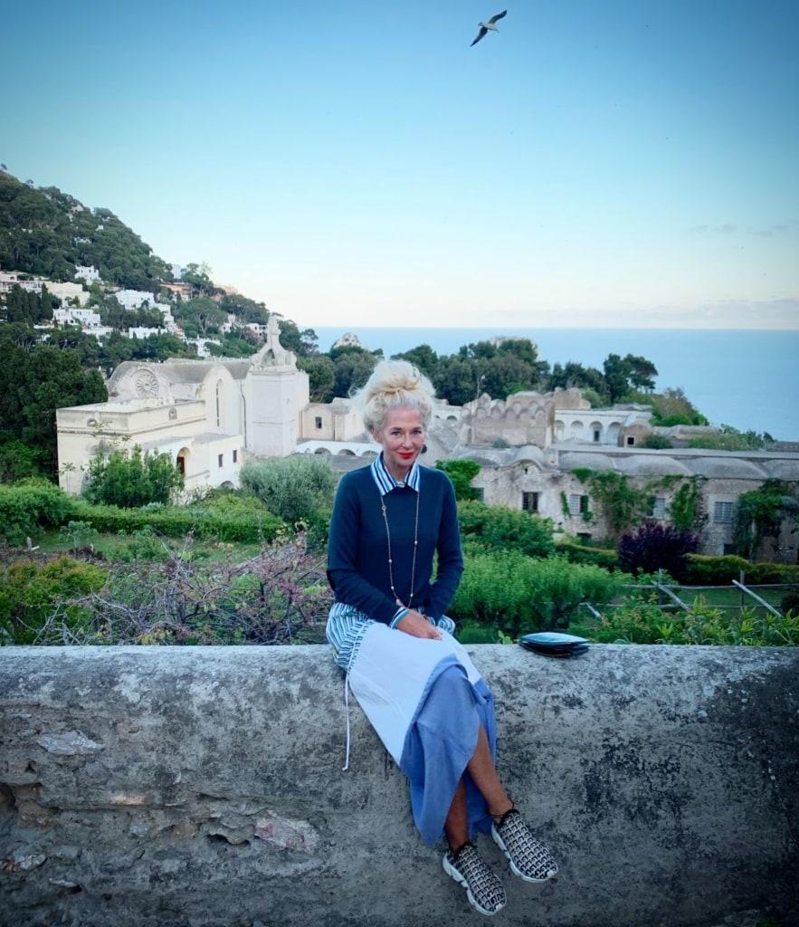 Ala Zander auf Capri
