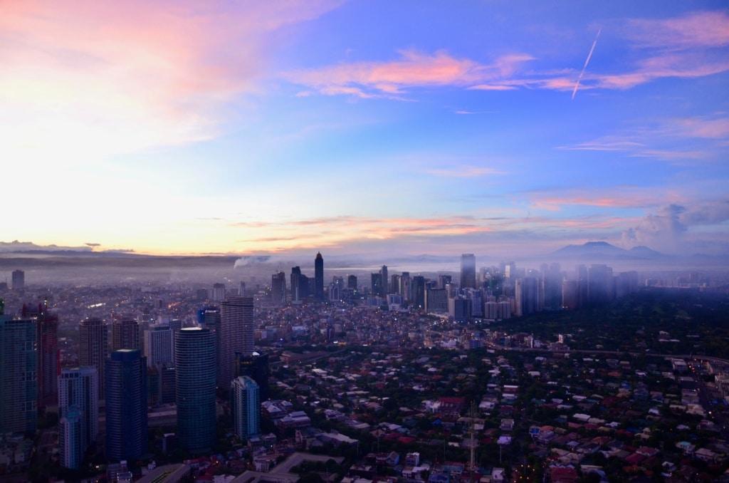 Aussicht auf Manila Philippinen