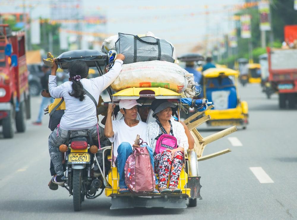 Transportmöglichkeit auf den Philippinen: Ein motorisiertes Dreirad